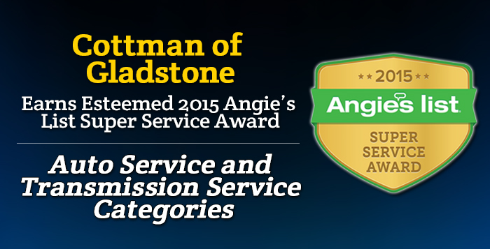 Cottman of Gladstone, MO - Angie's List Super Service Award 2015 Winner