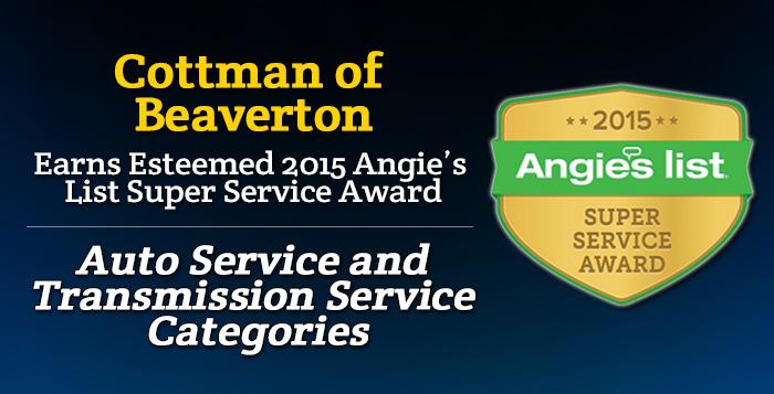 Cottman of Beaverton, OR - Angie's List Super Service Award 2015 Winners