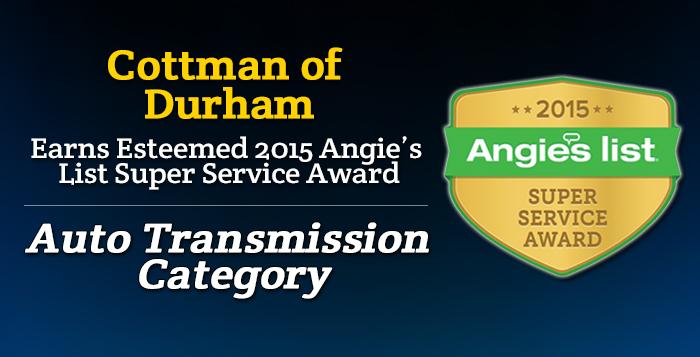 Cottman of Durham, NC - Angie's List Super Service Award 2015 Winner
