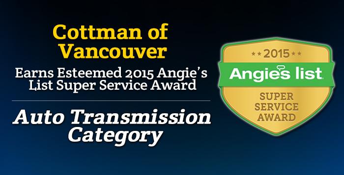Cottman of Vancouver, WA - Angie's List Super Service Award 2015 Winner