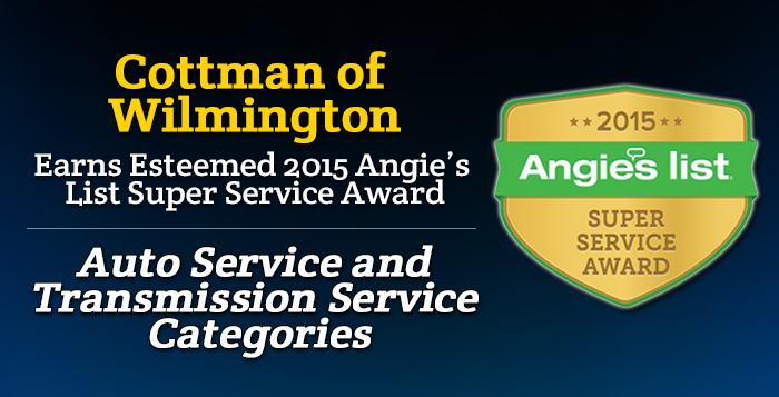 Cottman of Wilmington, NC - Angie's List Super Service Award 2015 Winner